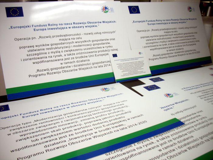 tablice unijne PROW pami¹tkowe informacyjne, tablica unijna pami¹tkowa informacyjne eu ue ARiMR dofinansowanie poig pokl porpw poiiœ rpo