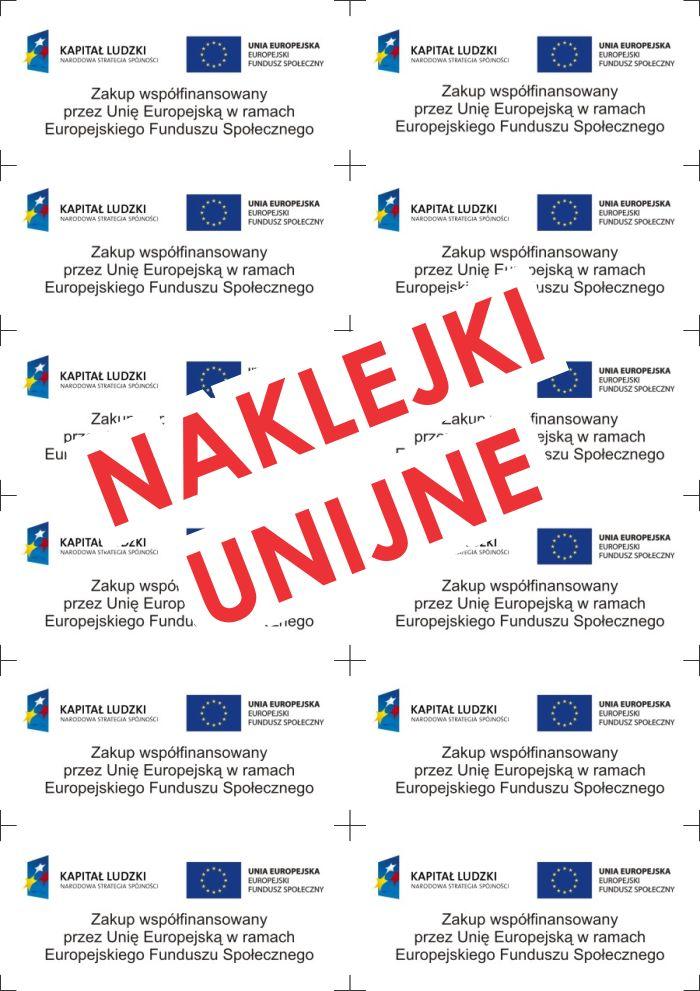 naklwjki unijne PROW pami¹tkowe informacyjne, naklejka unijna pami¹tkowa informacyjne eu ue ARiMR dofinansowanie poig pokl porpw poiiœ rpo