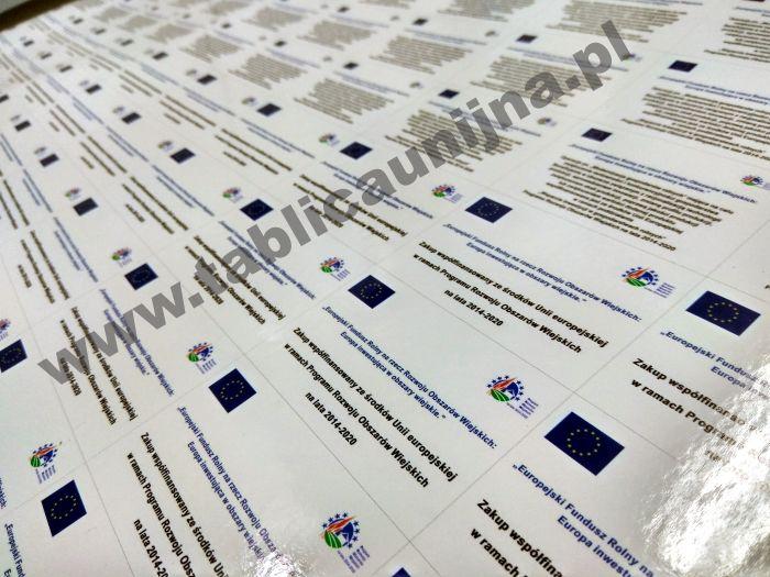 naklejki unijne PROW pami¹tkowe informacyjne, naklejka unijna pami¹tkowa informacyjne eu ue ARiMR dofinansowanie poig pokl porpw poiiœ rpo
